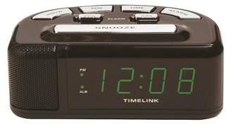 Timelink Digital Alarm Clock Black