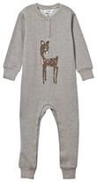 Mini Rodini Bambi Onesie Grey Melange