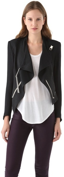 Helmut Lang Cropped Jacket with Contrast Trim