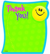 Trend Thank You Note Pad, 5 x 5, 50 Sheets/Pad