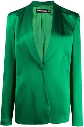 House of Holland metallic sheen tailored jacket