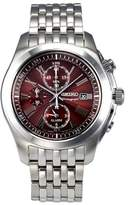 Seiko Men's SNAE51 Chronograph Stainless Steel Dial Watch
