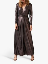 Phase Eight Joanne Wrap Maxi Dress, Rose Gold