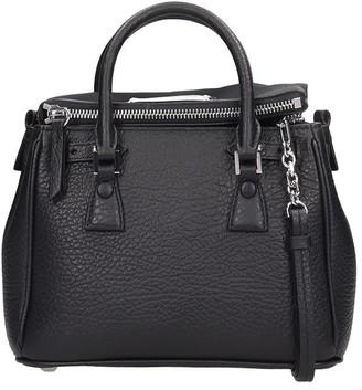 Maison Margiela Shoulder Bag In Black Leather