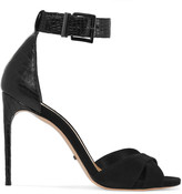 Schutz Lucianna snake-effect leather and suede sandals