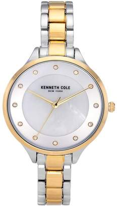 Kenneth Cole New York Women's Classic Two Tone Watch, 36mm
