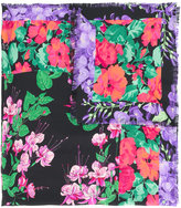 Gucci flowers print scarf - women - Silk - One Size