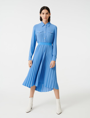 Maje Gathered waist shirt dress