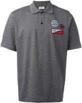 Saint Laurent patch embroidered polo shirt - men - Cotton - M