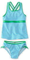 L.L. Bean Girls' Tide Surfer Swimsuit, Two-Piece Print