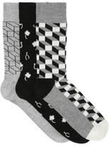 Happy Socks NEW 3 Pack multi Assorted