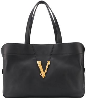 Versace Virtus embellished tote bag