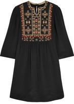 Isabel Marant Ren Embroidered Silk Mini Dress