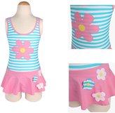 loveU Girls One-piece Stripe Pattern Swimwear Swimsuit