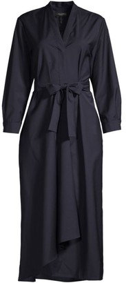 Max Mara Fumato Virgin Wool Wrap Dress
