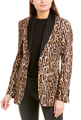 R 13 Silk-Trim Tuxedo Blazer