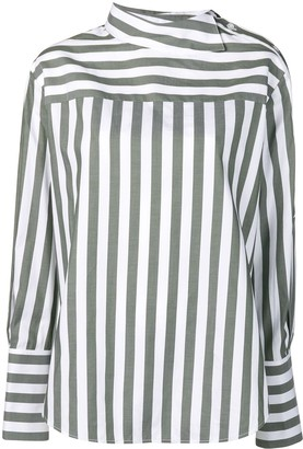 Monse Striped Shoulder Placket Shirt