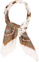 Etro Horse Print Silk Scarf