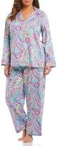 Lauren Ralph Lauren Plus Paisley Sateen Pajamas