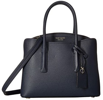 Kate Spade Margaux Medium Satchel (Black) Satchel Handbags