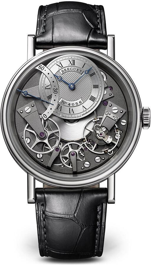 Breguet Tradition 18k White Gold Retro-Second Watch w/ Alligator Strap