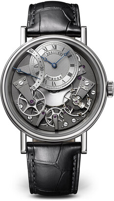 Breguet Tradition 18k White Gold Retro-Second Watch w/ Alligator Strap