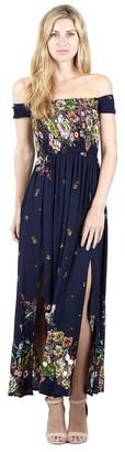 M&Co Izabel floral bardot maxi dress