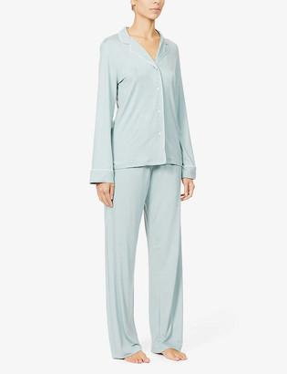 Derek Rose Lara long-sleeved stretch-jersey pyjama set