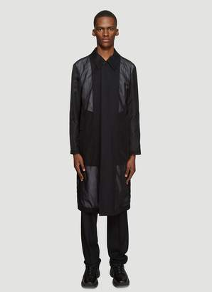 Burberry Panelled Trench Coat in Black