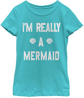 Fifth Sun Tahiti Blue 'I'm Really A Mermaid' Tee - Toddler & Girls