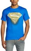 Superman Men's Logo Bling Crew Neck Short Sleeve T-Shirt