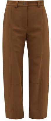 See by Chloe Tabbed Cuff Twill Trousers - Womens - Brown