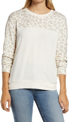 Gibson Colorblock Cozy Semi-Sheer Pullover