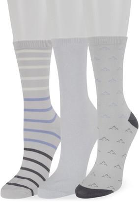 Sonoma Goods For Life Women's 3-Pack Stripes & Birdseye Soft & Comfortable Crew Socks