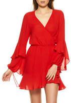 Auguste Poet Sleeve Mini Wrap Dress