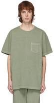 John Elliott Green Loose Stitch Pocket T-Shirt