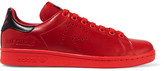 adidas + Raf Simons Stan Smith Perforated Leather Sneakers - Red