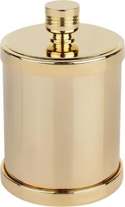 Zodiac Cylinder Gold-Plated Cotton Bud Jar