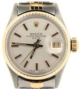 Rolex Date 6517 14K Yellow Gold & Stainless Steel Jubilee Band With Silver Dial Vintage Womens Watch