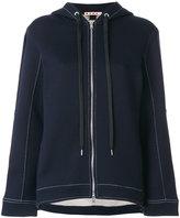 Marni flared zip-up hoodie - women - Cotton/Polyamide - 40