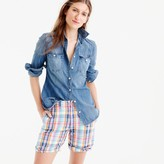J.Crew Boyfriend short in pink vintage plaid