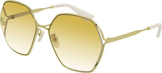 Gucci 63mm Gradient Oversize Sunglasses