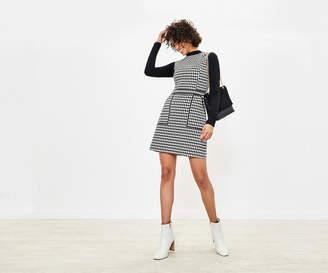 Oasis Dogtooth Mini Shift Dress