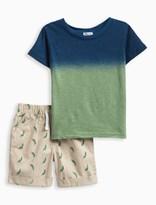 Splendid Little Boy Dip Dye Tee and Printed Short Set