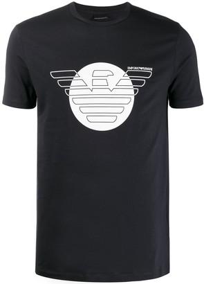 Emporio Armani printed eagle logo T-shirt
