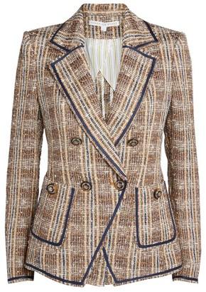 Veronica Beard Theron Tweed Double-Breasted Blazer