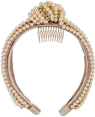 Jennifer Behr Sirene Headband in Pearl | FWRD