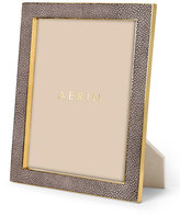"AERIN Chocolate Deco Faux-Shagreen 8"" x 10"" Frame"