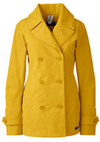 Lands' End Women's Petite Squall Peacoat-Atlas Yellow