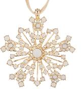 Joanna Buchanan Winter Palace Sparkle Snowflake Tree Decoration, Opal